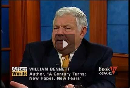 """Bill Bennett on BookTV """"After Words"""""""