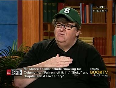 Michael Moore pledging allegiance to the people of the United States of America
